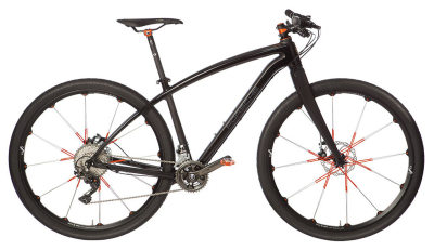 Велосипед Porsche Bike RS, Black / Lavaorange