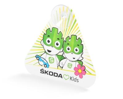 Значок ребенок в машине Skoda Baby on Board sign
