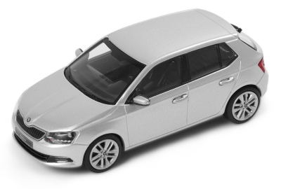 Модель автомобиля Skoda Fabia, Silver Briliant Metallic, 1:43 scale