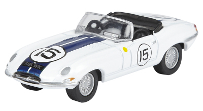 Модель автомобиля Jaguar E-Type Le Mans 1963, White, 1:76 Scale