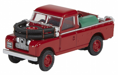 Модель автомобиля Land Rover Series II Fire Appliance, Scale 1:76, Red