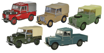 Набор из 5 моделей Land Rover Series I Collection, Set of 5, Scale 1:76