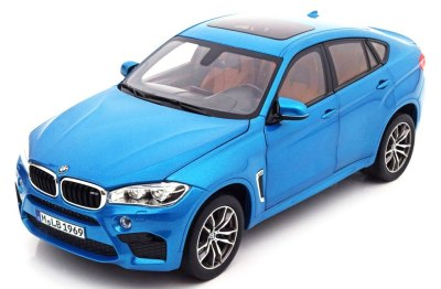 Модель BMW X6M (F86), Scale 1:18, Long Beach Blue Metallic
