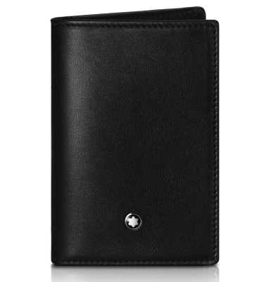 Кожаная визитница BMW Montblanc Business Card Holder, Black
