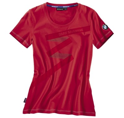Женская футболка BMW Motorrad Logo T-Shirt in Red, for women