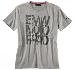 Мужская футболка BMW Motorrad Logo T-Shirt in Gray, for men