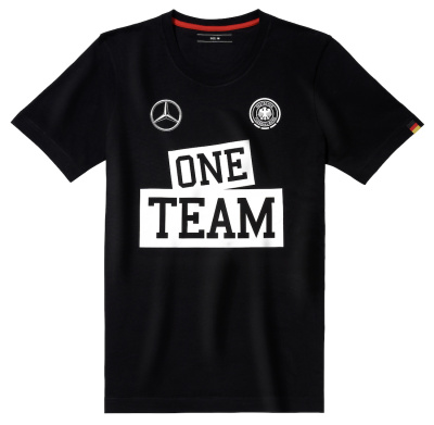 Мужская футболка Mercedes Men's T-Shirt, One Team, Black