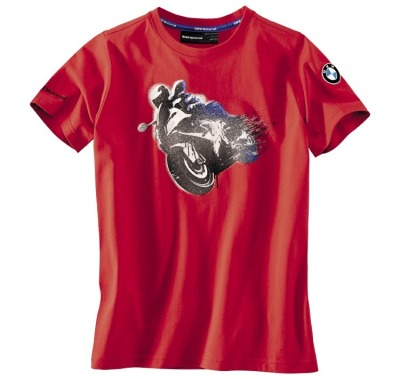 Детская футболка BMW Motorrad Logo T-Shirt in Red, Children