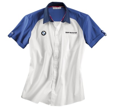 Мужская рубашка BMW Motorrad Logo Short-Sleeved Shirt, Men, White / Blue