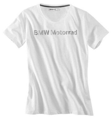 Женская футболка BMW Motorrad Logo T-Shirt in White, For Women