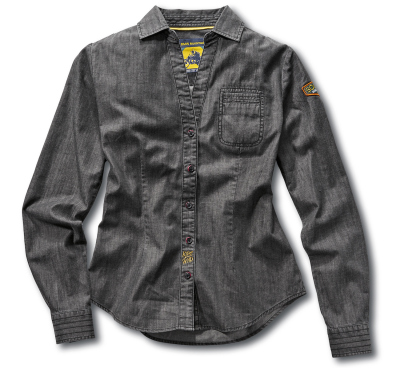 Женская рубашка BMW Motorrad Ladies Roadster Shirt, Grey Denim