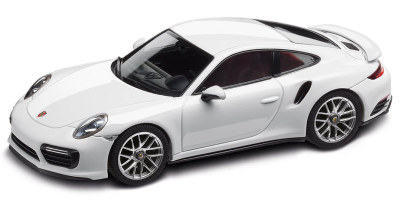 Модель автомобиля Porsche 911 Turbo S Coupe (991 II), Scale 1:43, Carrara White