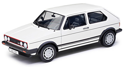 Модель автомобиля Volkswagen Golf I GTI (1983), White, Scale 1:18