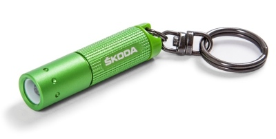 Брелок-фонарик Skoda Keyring - LED Lamp, Green