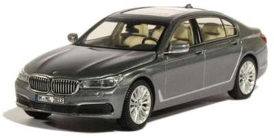 Модель BMW 750 Li (G12), Arctic Grey, Scale 1:43