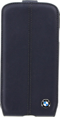 Кожаный чехол-флип BMW для Samsung Galaxy S4 Signature Flip Navy Blue