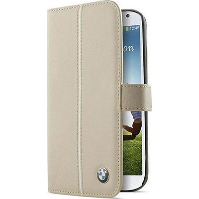 Кожаный чехол-книжка BMW для Samsung Galaxy S4 Signature Booktype Cream