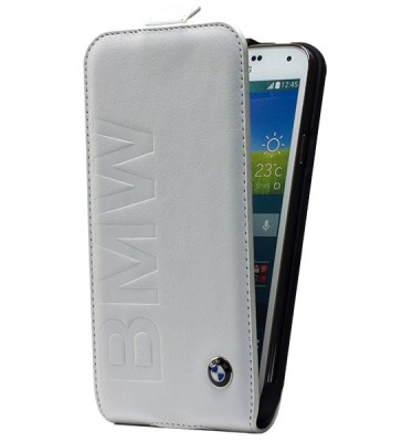 Чехол-флип BMW для Samsung Galaxy S4 Mini Logo Signature Flip White