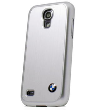 Крышка-чехол BMW для Samsung Galaxy S4 Mini Hard Brushed Aluminium Silver