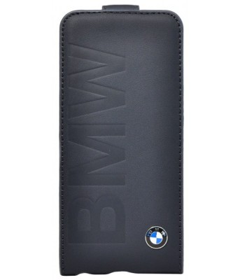 Кожаный чехол BMW для iPhone 5C Logo Signature Flip Black