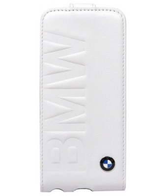 Кожаный чехол BMW для iPhone 5/5S Logo Signature White