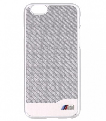 Крышка-чехол BMW для iPhone 6 M-Collection Carbon & Aluminium Finish, Silver