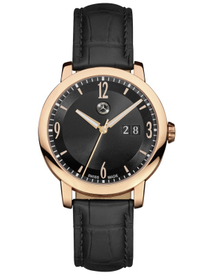 Мужские наручные часы Mercedes-Benz Men's Watch, Classic Gold Mark 2, Rosé Gold / Black