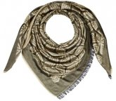 Женский платок Mercedes-Benz Women's Scarf, Black / Gold