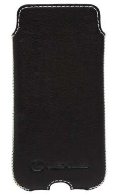 Кожаный чехол Lexus для iPhone 6 Plus, Leather Smartfone Case Black