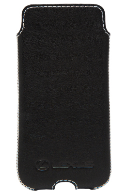 Кожаный чехол Lexus для iPhone 5/5S, Leather Smartfone Case Black
