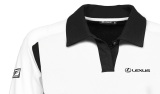 Мужская рубашка-поло Lexus F Sport Polo Shirt, White / Black, артикул LMFS00023L