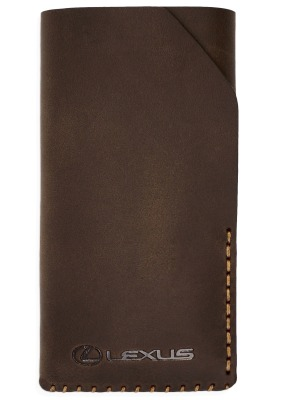 Кожаный чехол Lexus для iPhone 6 Plus, Leather Smartfone Case Brown