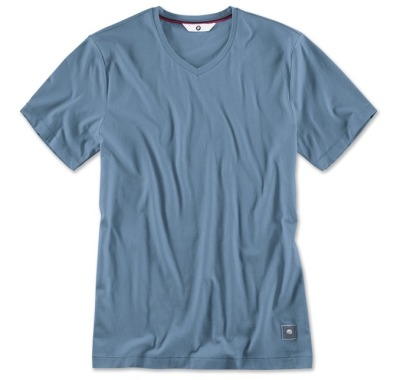 Мужская футболка BMW V-Neck T-Shirt, Men, Steel Blue