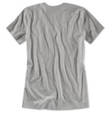 Женская футболка BMW V-neck T-Shirt, Ladies, Aluminium Grey Melange, артикул 80142411037