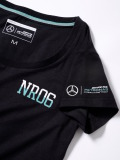 Женская футболка Mercedes F1 Women's T-shirt, Nico Rosberg No. 6, Black, артикул B67996668