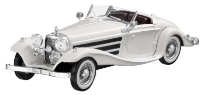 Модель Mercedes-Benz 500 K Special Roadster, W 29 (1936), Scale 1:43, White