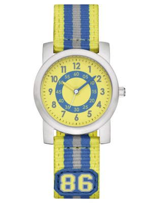 Детские наручные часы Mercedes-Benz Watch, MB Kids' Watch  silver / yellow / blue