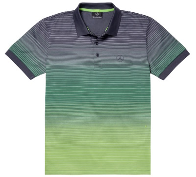 Мужская футболка поло Mercedes-Benz Men's Polo Shirt, Hugo Boss, Navy / Green