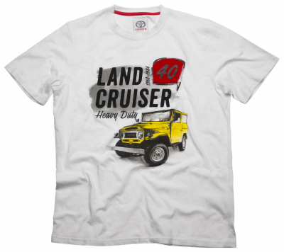 Футболка мужская Toyota Men's T-Shirt, Land Cruiser 40, White