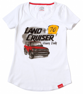 Женская футболка Toyota Land Cruiser 70, Ladies T-Shirt, White