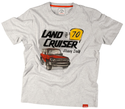 Футболка мужская Toyota Men's T-Shirt, Land Cruiser 70, Grey