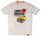 Футболка мужская Toyota Men's T-Shirt, Land Cruiser 40, Grey