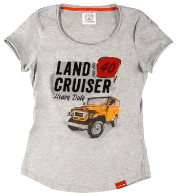 Женская футболка Toyota Land Cruiser 40, Ladies T-Shirt, Grey