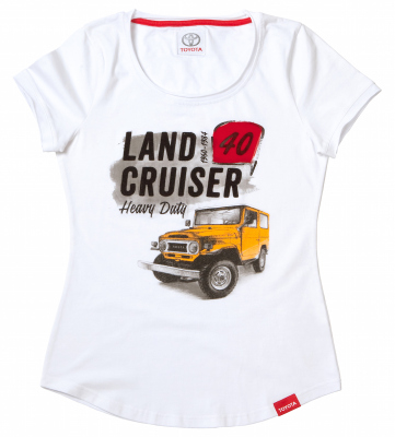 Женская футболка Toyota Land Cruiser 40, Ladies T-Shirt, White