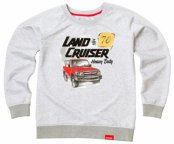 Женская толстовка Toyota Land Cruiser 70, Ladies Hoody, Grey