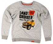 Женская толстовка Toyota Land Cruiser 40, Ladies Hoody, Grey