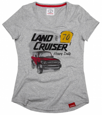 Женская футболка Toyota Land Cruiser 70, Ladies T-Shirt, Grey