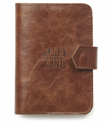 Кожаное портмоне Toyota Land Cruiser Land Wallet, Brown