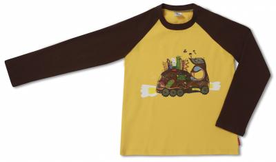 Детский логнслив реглан Toyota Kids Longsleeve Shirt, Yellow-Brown