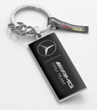 Брелок Mercedes-Benz Key Ring, Hockenheim, Black / Silver, артикул B67995190